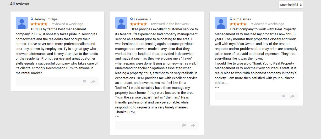 Dallas Property Management Reviews